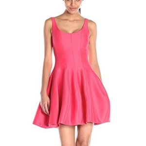 Halston Heritage Flare Tank Dress Tulip Pink 2